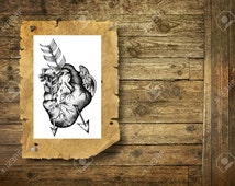 Heart and arrows - Temporary tattoo