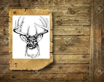 Deer - Temporary tattoo