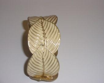 Ivory and Gold Coloured Leaf Bracelet