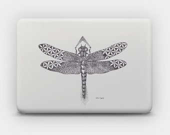 Transparent Skin Sticker Decal for MacBook Air 11' 13' MacBook Pro 13' 15' - Dragonfly