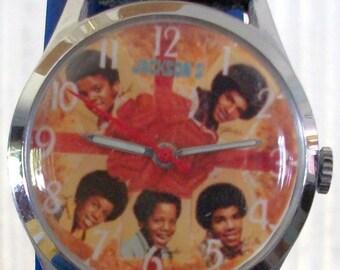 Vintage Wind-Up Michael Jackson Five Watch!