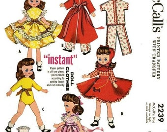 "Betsy McCall Doll Wardrobe Pattern for 7.5"" to 8"" Dolls"