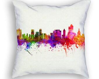 Tulsa Oklahoma Throw Pillow, 18x18, Cushion Home Decor, Gift Idea, Pillow Case 02