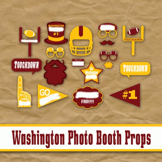 Washington DC Football Printable Photo Booth Props