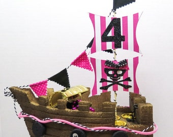 Girl Pirate Ship Topper