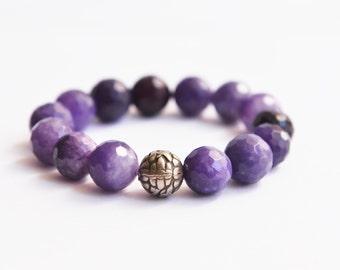 Purple gemstone bracelet