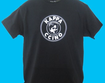 New KAPPA Internet Meme Gamer Inspired T Shirt Top Mens ~ Funny ~ 'Kappa ccino'