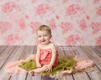 Photography Backdrop, Newborn Photography Backdrop, Vinyl Photography Backdrop, Baby Photography Background for Spring Floral - VD106