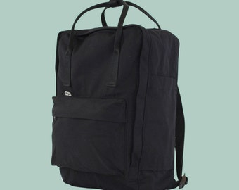 New Black Soft Cotton Backpack