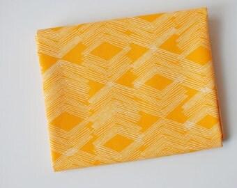 yellow geometric fabric   Limestone Feel Pitahaya, Morning Walk by Leah Duncan for Art Gallery fabric by the yard, blender chevron texture