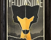 Alpha: Yellowstone National Park Poster. Actual item not framed.