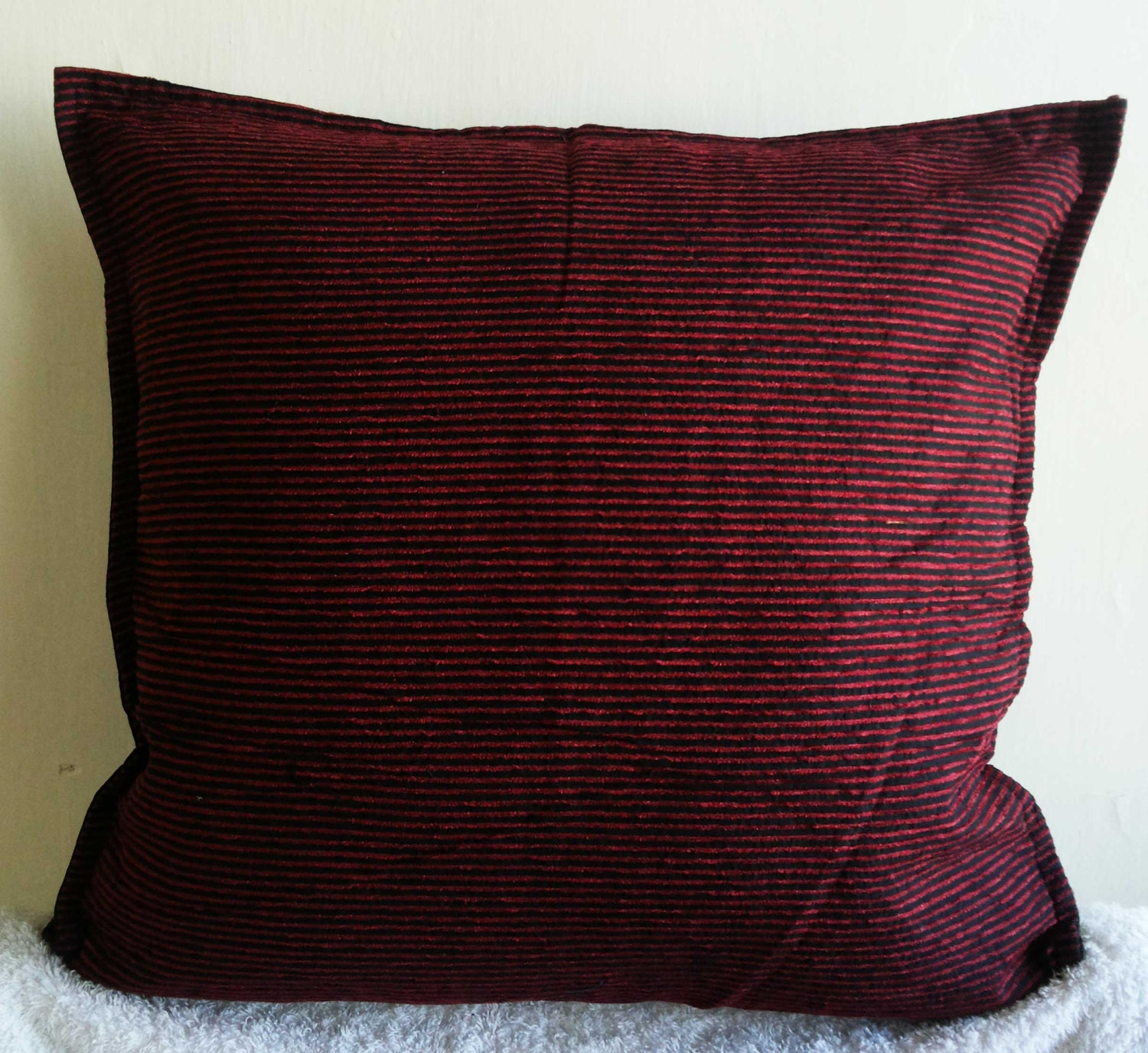 Decorative throw pillow covers 16x16 red black by knotnstitch - Decorative throw pillows ...