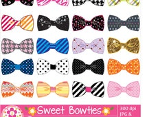 Sweet Bow Ties Clip Art Set / Set of 20 Bow Ties Clip Art