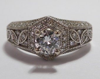 Vintage Estate Engagement Designer Diamond Ring