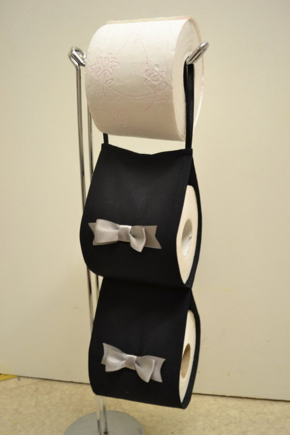 The Decorative Toilet Paper Holder Storage Black With