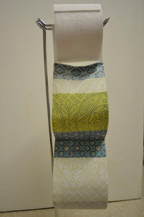 The Decorative Toilet Paper Holder Storage White Green Blue