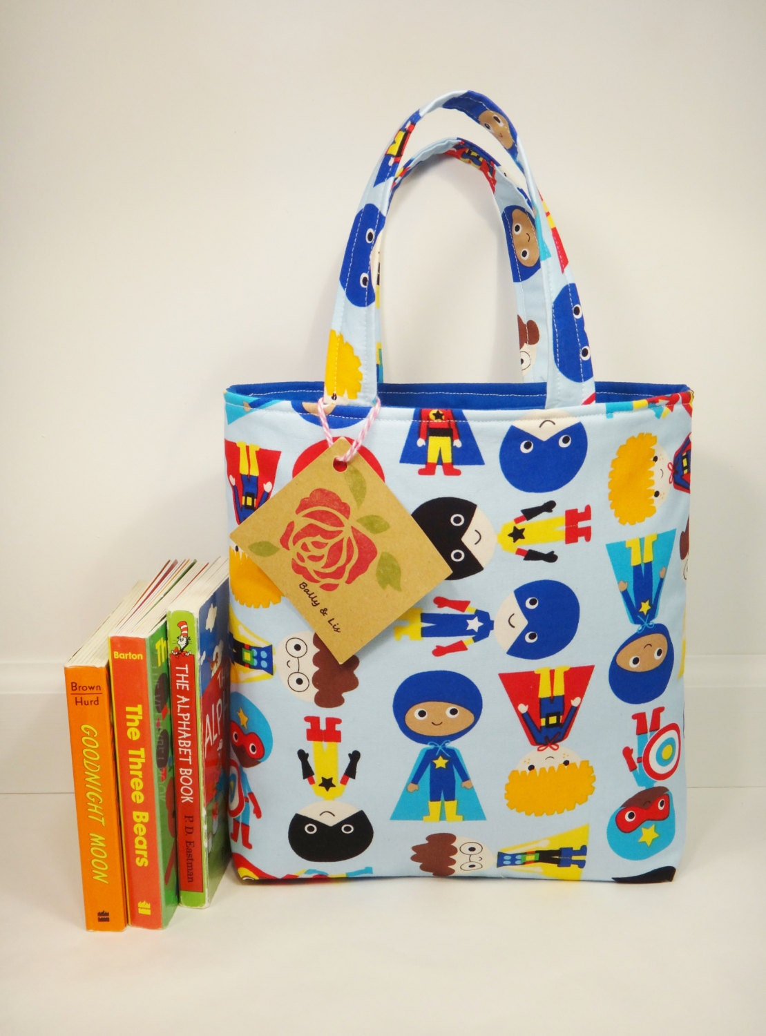 Superhero Tote Bag Mini Tote Bag Boys Bag Toddler Tote Bag