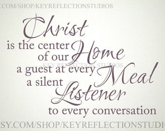Christ is the Center of Our Home wall decal