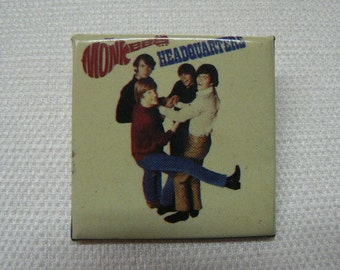 Vintage Early 1980s The Monkees Headquarters Album Cover Pin / Button