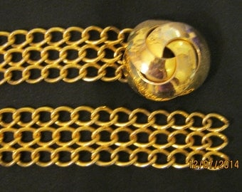 BELT HEAVY CHAIN n Faux Gold