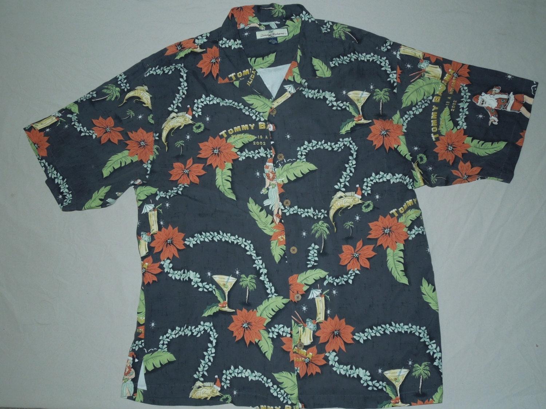 Vintage 2002 Tommy Bahama Christmas Hawaiian Shirt By