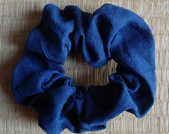 Hair Accessory, indigo-dyed cotton fabric from vintage kimono