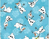 On Sale Today - Disney Frozen Olaf Snowflakes - Frozen Fabric - Snowflake Fabric - Springs Creative Fabric By the Half Yard