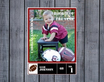 Football Trading Card Party Favor-Printable