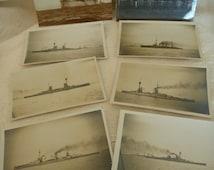GERMAN FLEET on way to internment Scapa Flow Orkney  Superb detail  historical item German Fleet surrender WW1