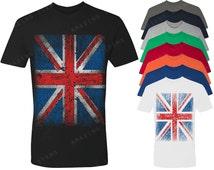 Vintage British Flag Men's T-shirt Union Jack Shirts
