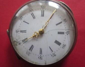 Antique FRANCE Vintage Pocket Watch,Retro pocket watch,Old French pocket watch,Montre Gousset Out of Order ressort cassé