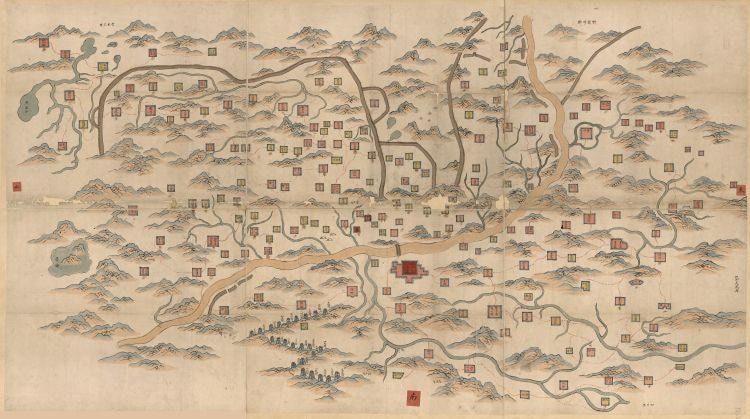 Gansu Province China reproduction of vintage map 1855