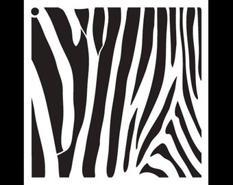 Zebra Stripes-Pattern Stencil-Select Size-SKU: STCL633