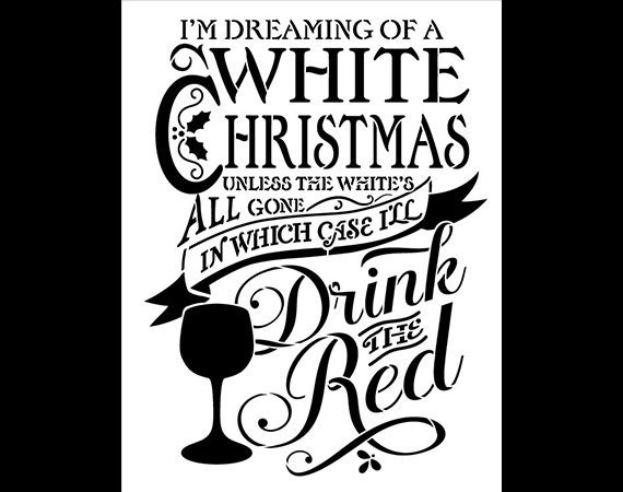 White Christmas - Christmas Stencil - Select Size - STCL606 - by StudioR12