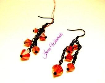 Earrings - Red Dangle earrings