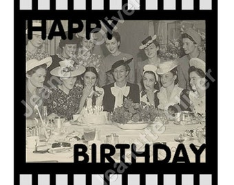 Happy Birthday Single Film Strip with template SVG Digital Download
