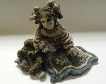 Vtg., - Boyds Dollstone Yesterday's Child ~ CHERYL WITH ASHLIE.