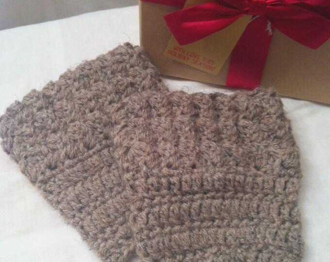 Crocheted Textured Boot Cuffs, Boot Cuffs, Women's Boot Cuff