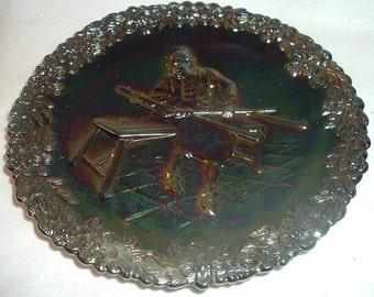1970 Fenton Carnival 1st Issue Glass Craftsman Jamestown Plate