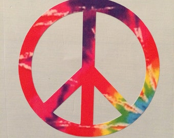 Peace Sign Tie-Dye Decal