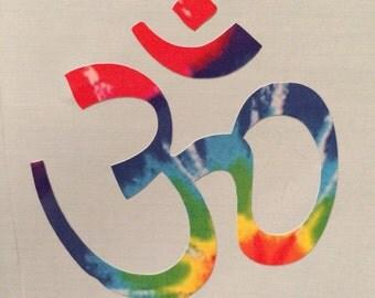 Om Symbol Tie-Dye Decal