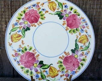 Very nice hand painted cake plate made in Japan