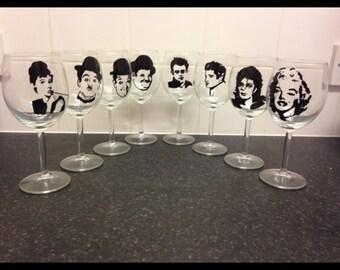 Icon sillihoute wine glasses