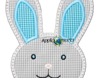 Bunny Face Applique - Instant Digital Download