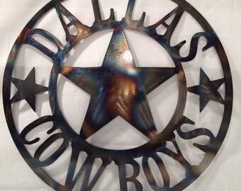 Dallas Cowboys Wall Art, torched, metal wall art, metal art