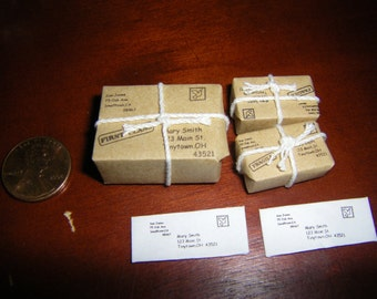 You've Got Mail! Miniature Mail and Parcels for Fairy Garden and Dollhouse Residents