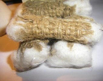 Vintage Cotton Bales  for General Store, Antique Shop or any Miniature scene 1:12 scale