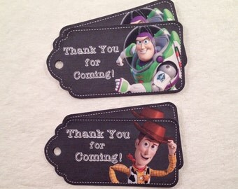 10 - Toy Story Buzz Lightyear Woody Chalkboard Party Favor Gift Tags Birthday Party Favor Toy Story Party Supplies