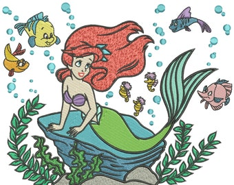 INSTANT DOWNLOAD Machine Embroidery Designs. Ariel. The Little Mermaid.