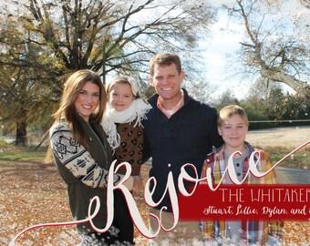 Rejoice Photo Christmas Card // DIY Printable
